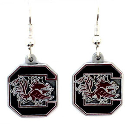 South Carolina Gamecocks Dangle Earrings - Special Order