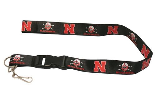 Nebraska Cornhuskers Lanyard - Breakaway with Key Ring - Blackshirts - Special Order