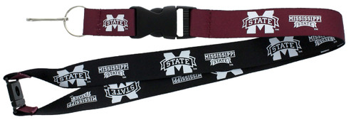 Mississippi State Bulldogs Lanyard - Reversible