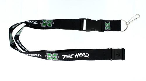 Marshall Thundering Herd Lanyard - Black - Special Order