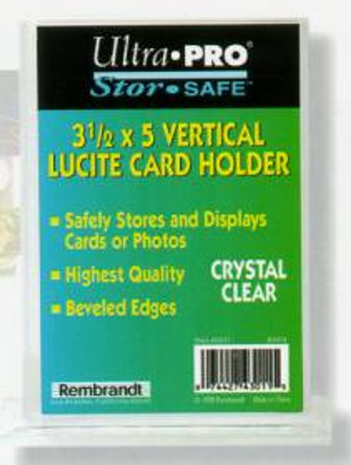1/2 3 1/2x5 1/8 Vertical Lucite Card Holder