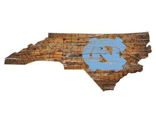 North Carolina Tar Heels Wood Sign - State Wall Art - Special Order