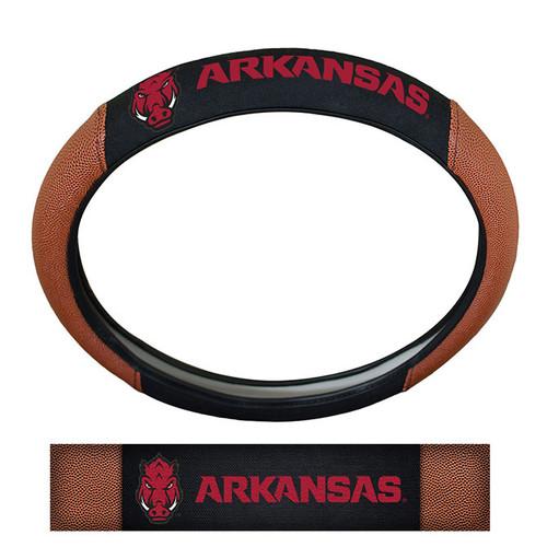 Arkansas Razarbacks Steering Wheel Cover - Premium Pigskin - Special Order