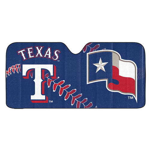 Texas Rangers Auto Sun Shade 59x27 - Special Order