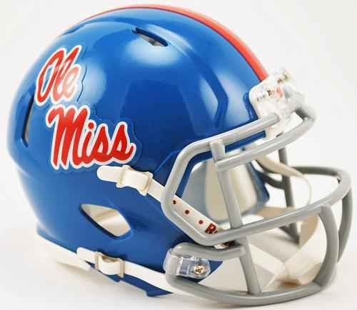 Mississippi Rebels Speed Mini Helmet - Powder Blue - Special Order