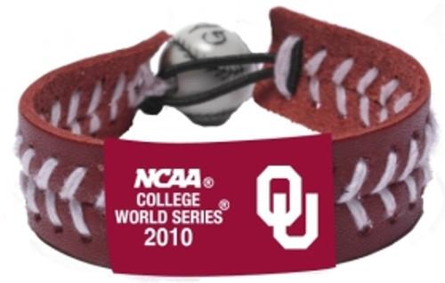 Oklahoma Sooners Bracelet Team Color Baseball 2010 College World Series