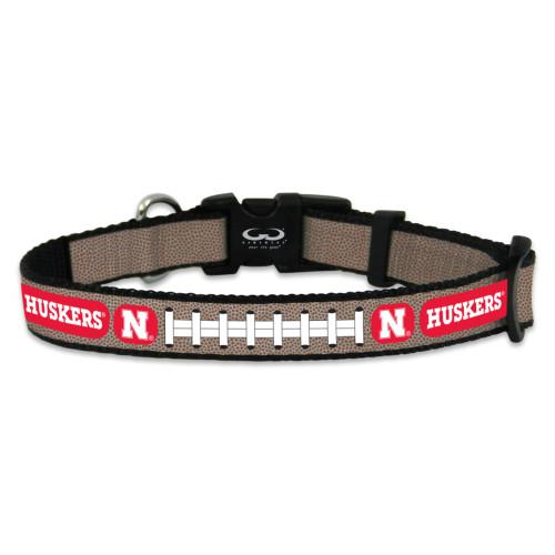 Nebraska Cornhuskers Pet Collar Reflective Football Size Small