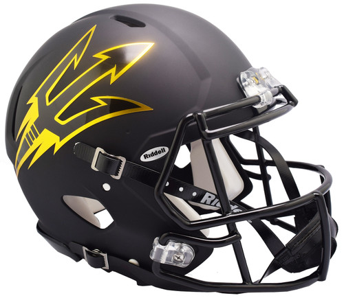 Arizona State Sun Devils Helmet Riddell Authentic Full Size Speed Style Satin Black - Special Order