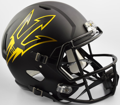 Arizona State Sun Devils Helmet Riddell Replica Full Size Speed Style Satin Black - Special Order