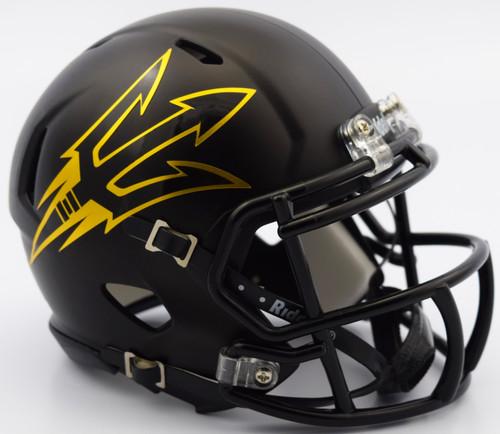 Arizona State Sun Devils Helmet Riddell Replica Mini Speed Style Satin Black - Special Order