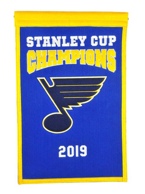 St. Louis Blues Banner 14x22 Wool Championship