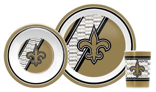New Orleans Saints 5 Piece Children's Dinner Set