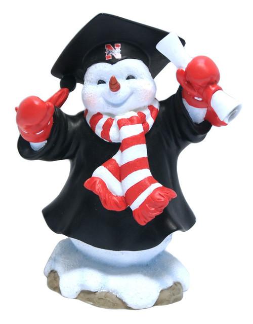 Nebraska Cornhuskers Jack Graduation Snowman - Script Logo