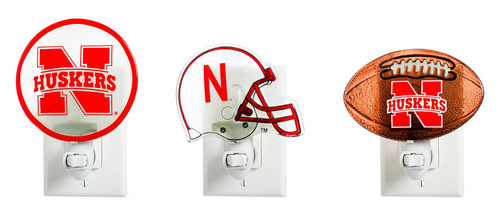 Nebraska Cornhuskers Glass Night Light - 3 Assorted - 18 piece