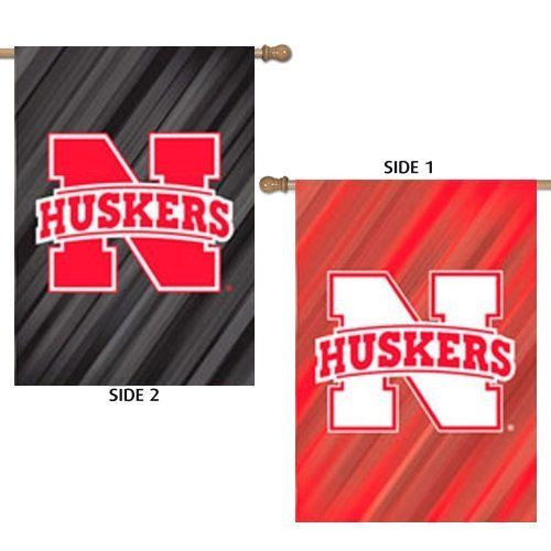 Nebraska Cornhuskers Flag Double Sided Suede
