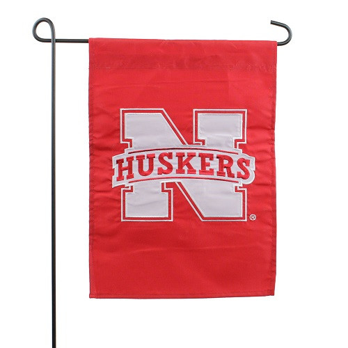 Nebraska Cornhuskers Garden Flag 12.5x18 Applique