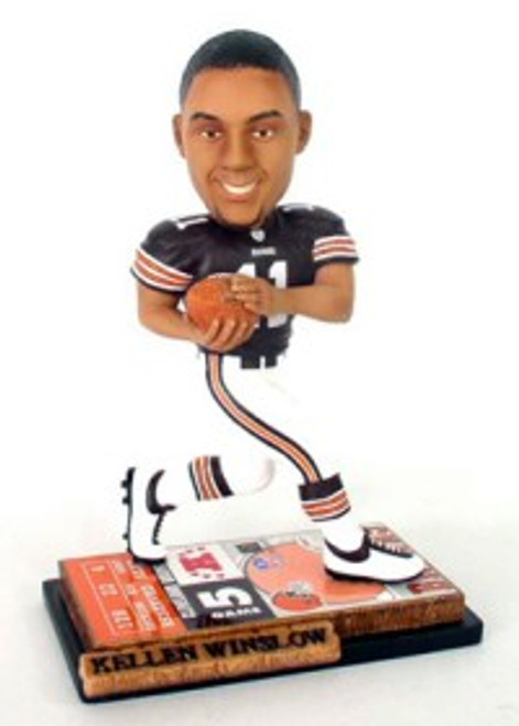 Cleveland Browns Kellen Winslow Jr. Ticket Base Forever Collectibles Bobblehead