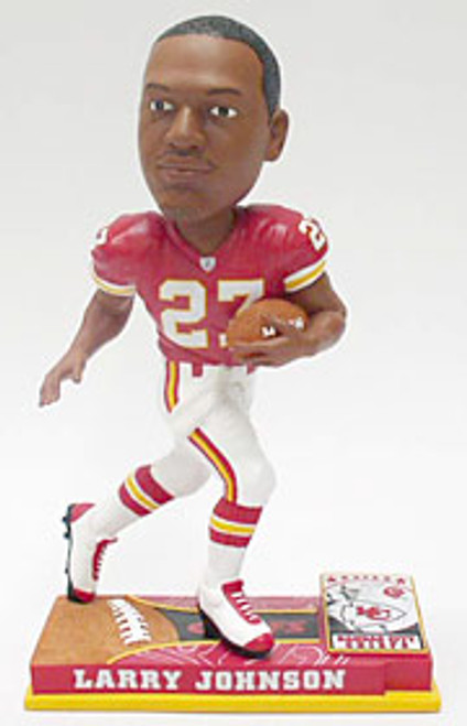 Kansas City Chiefs Larry Johnson Forever Collectibles On Field Bobblehead