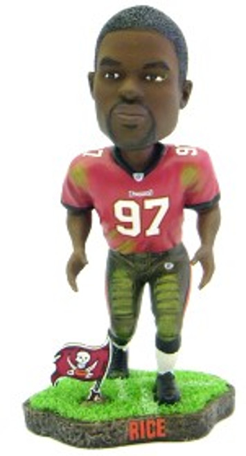 Tampa Bay Buccaneers Simeon Rice Game Worn Forever Collectibles Bobblehead