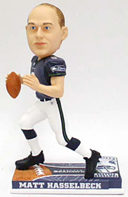 Seattle Seahawks Matt Hasselbeck Forever Collectibles On Field Bobblehead