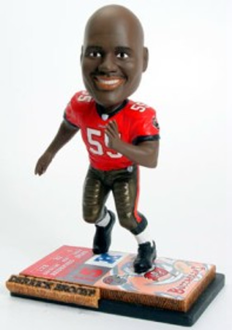 Tampa Bay Buccaneers Derrick Brooks Ticket Base Forever Collectibles Bobblehead