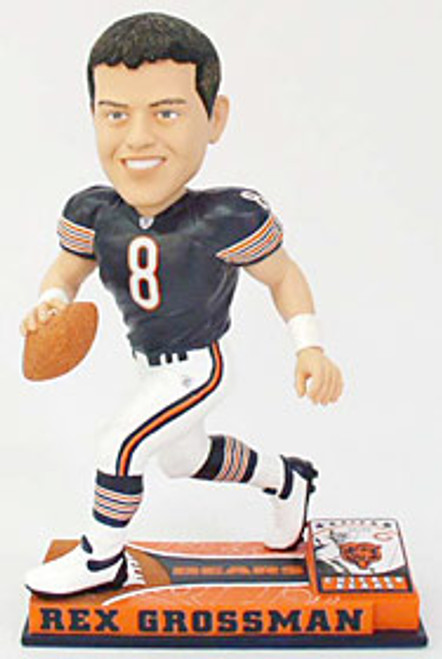 Chicago Bears Rex Grossman Forever Collectibles On Field Bobblehead