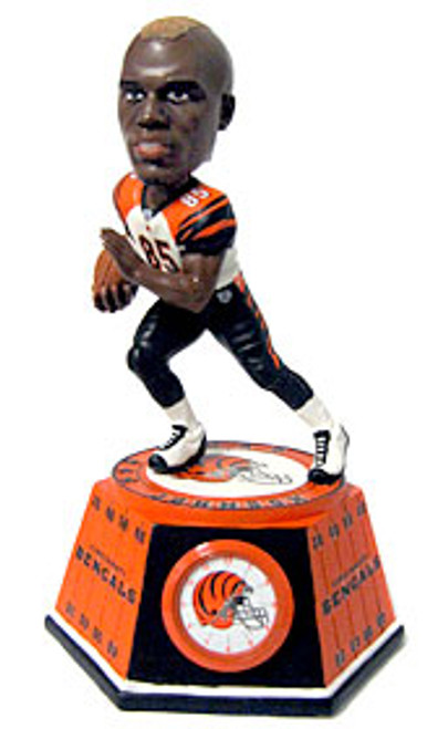 Cincinnati Bengals Chad Johnson Forever Collectibles Bobblehead Clock