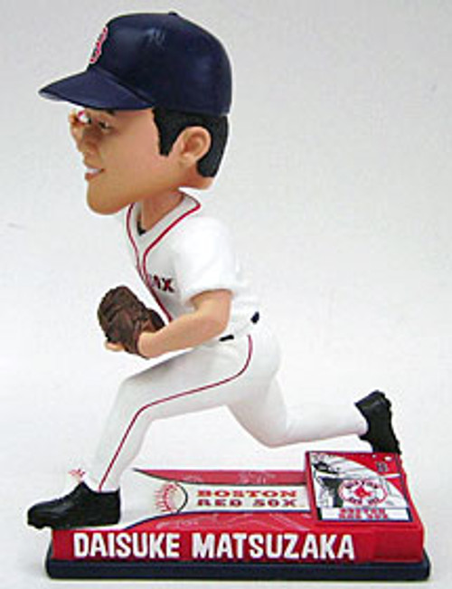Boston Red Sox Daisuke Matsuzaka Forever Collectibles On Field Bobblehead