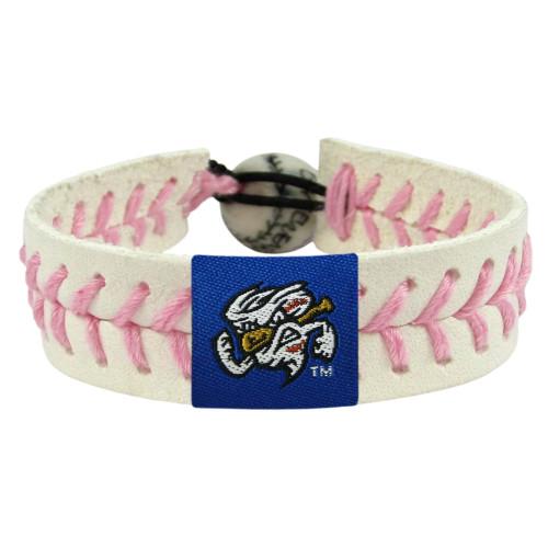 Omaha Storm Chasers Bracelet Baseball Pink Mascot