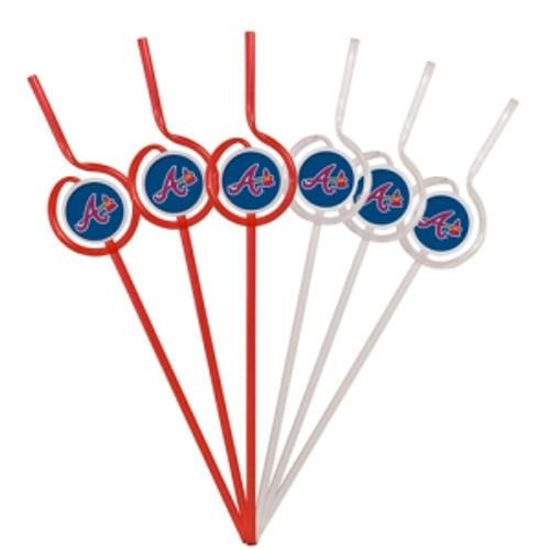 Atlanta Braves Team Sipper Straws