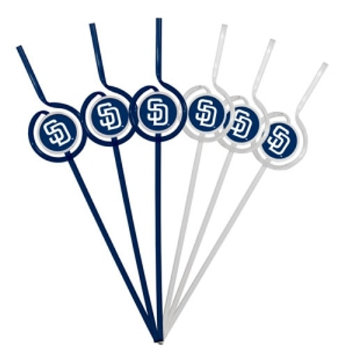 San Diego Padres Team Sipper Straws CO
