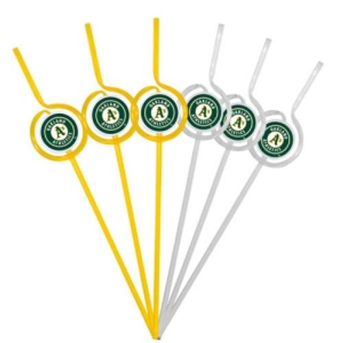 Oakland Athletics Team Sipper Straws