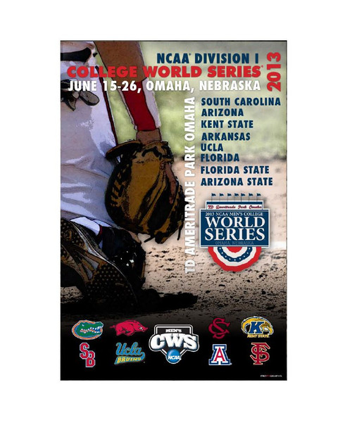 2013 College World Series Poster - Catch the Action