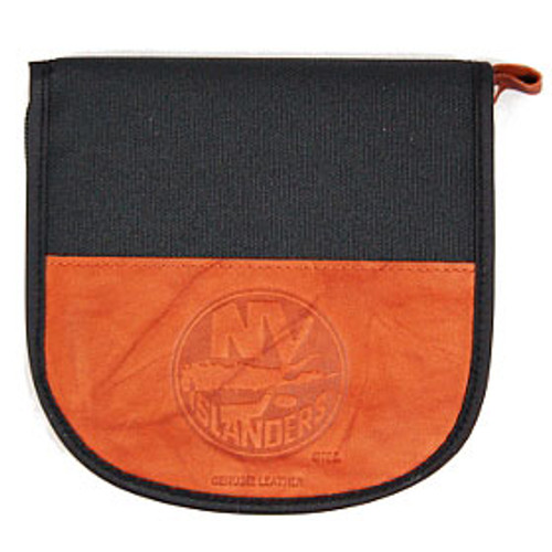 New York Islanders Leather/Nylon Embossed CD Case