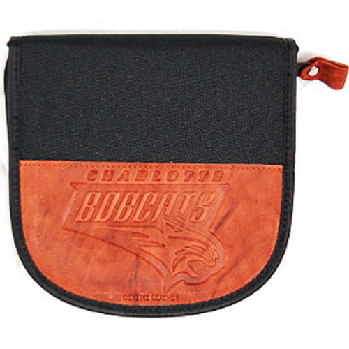 Charlotte Bobcats Leather/Nylon Embossed CD Case
