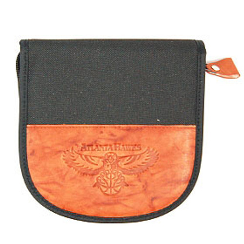 Atlanta Hawks Leather/Nylon Embossed CD Case