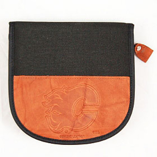 Calgary Flames CD Case Leather/Nylon Embossed CO