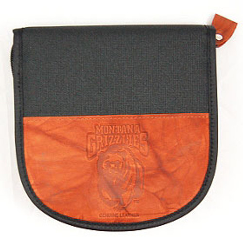 Montana Grizzlies Leather/Nylon Embossed CD Case