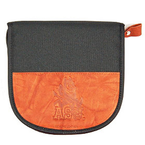 Arizona State Sun Devils Leather/Nylon Embossed CD Case