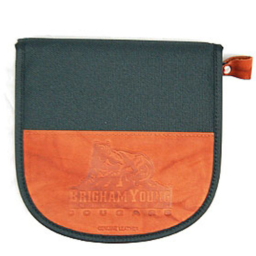 BYU Cougars Leather/Nylon Embossed CD Case