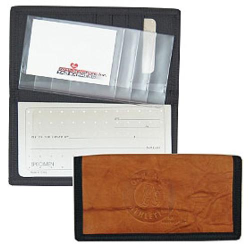 Oakland Athletics Leather/Nylon Embossed Checkbook Cover