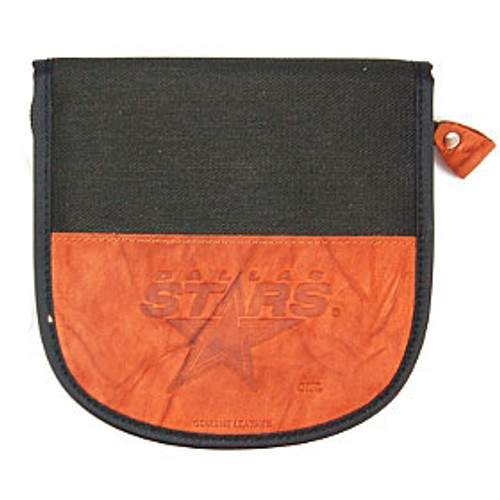 Dallas Stars CD Case Leather/Nylon Embossed CO