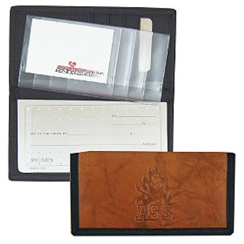 Arizona State Sun Devils Leather/Nylon Embossed Checkbook Cover