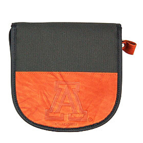 Arizona Wildcats Leather/Nylon Embossed CD Case