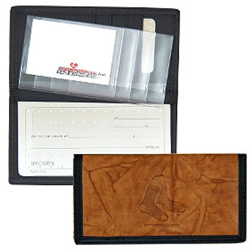 Boston Red Sox Leather/Nylon Embossed Checkbook Cover
