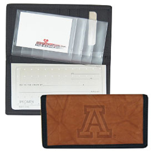 Arizona Wildcats Leather/Nylon Embossed Checkbook Cover