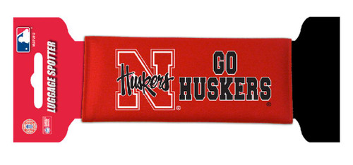 Nebraska Cornhuskers Single Luggage Spotter - Script Logo