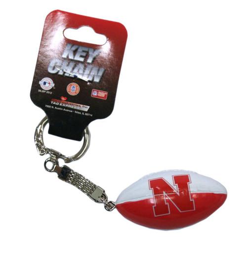 Nebraska Cornhuskers Keychain Lil Brats Script Logo
