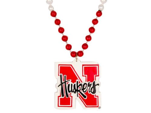 Nebraska Cornhuskers Beads with Medallion Mardi Gras Style CO