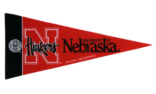 Nebraska Cornhuskers Pennant - Mini - Single - Script Logo